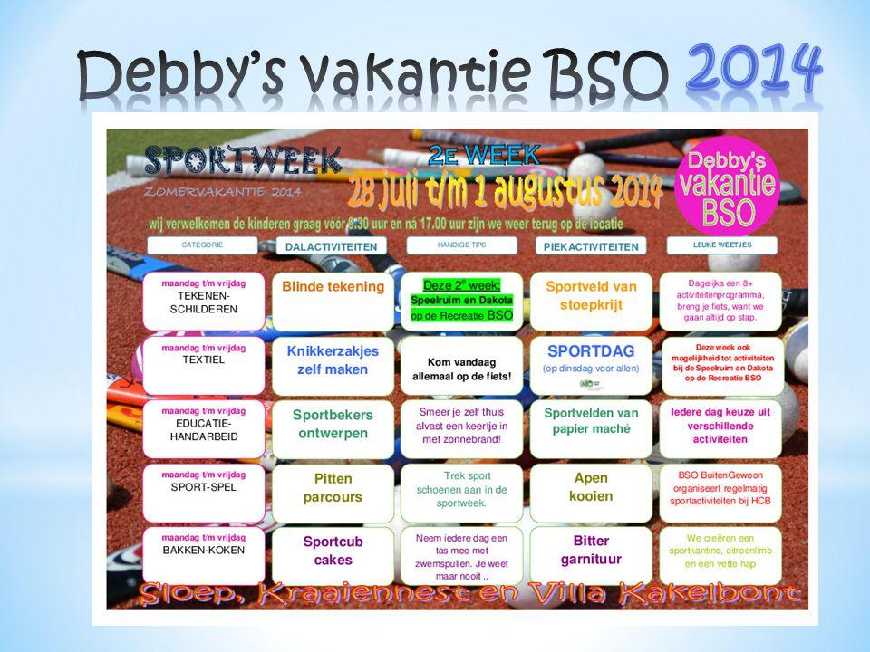 2014 Debby's vakantie BSO
