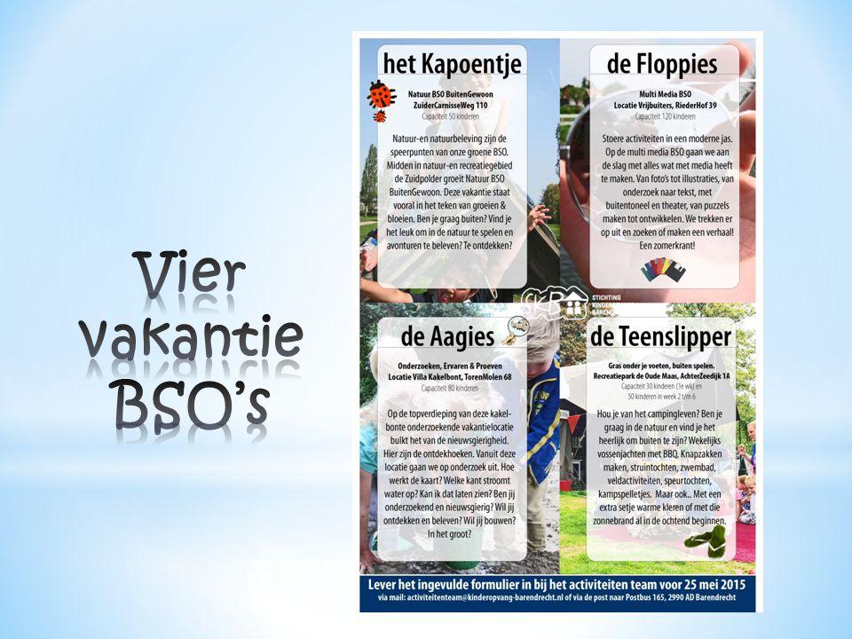 Vier vakantie BSO's