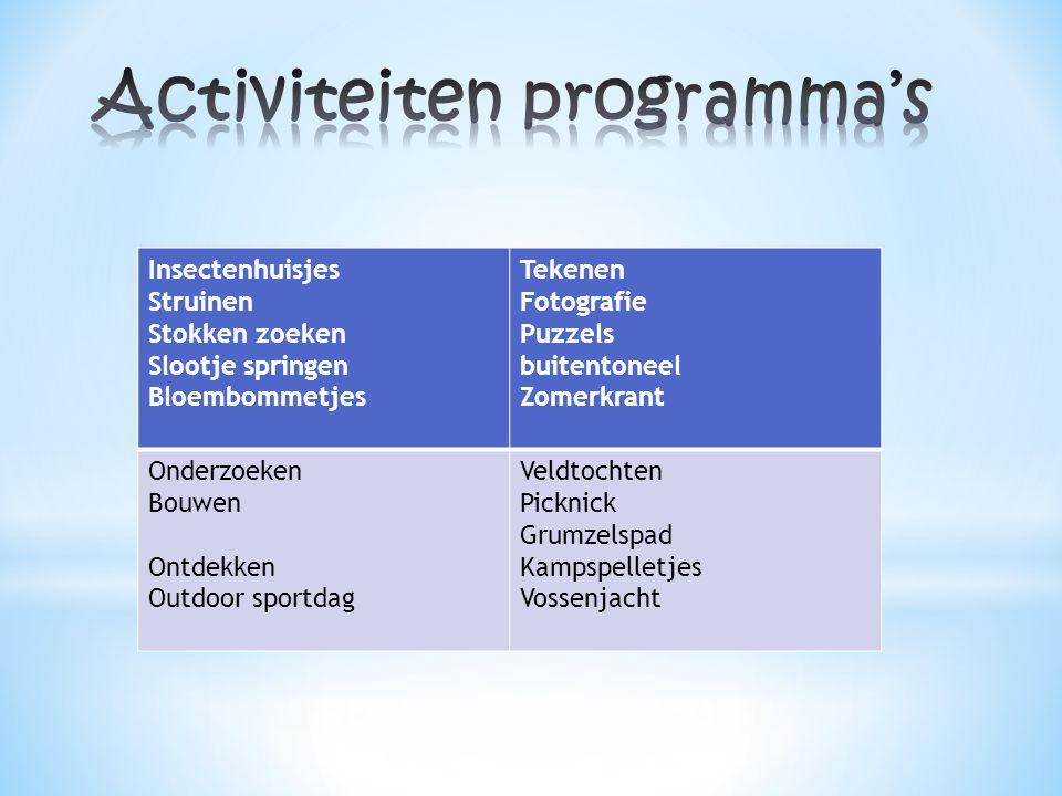 Activiteiten programma's