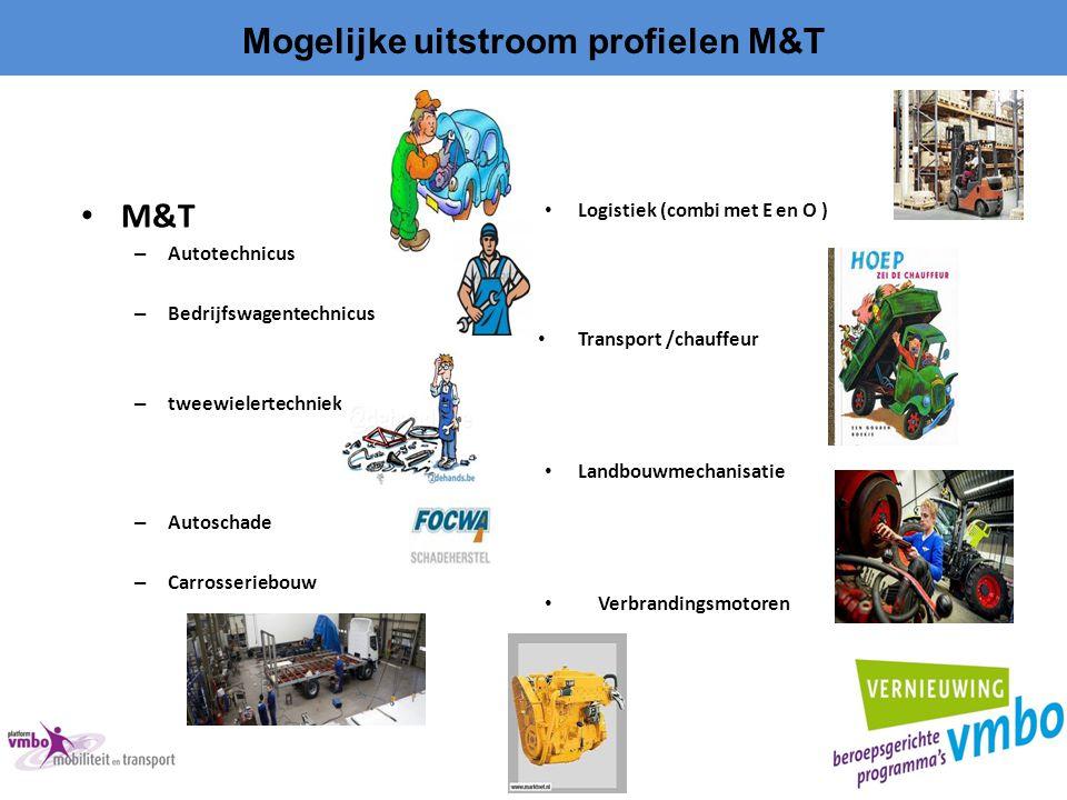 Mogelijke uitstroom profielen M&T