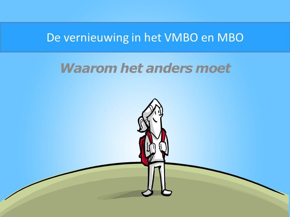 De vernieuwing in het VMBO en MBO