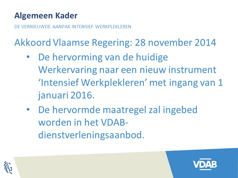 Akkoord Vlaamse Regering: 28 november 2014