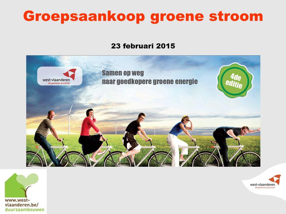 Groepsaankoop groene stroom 23 februari 2015