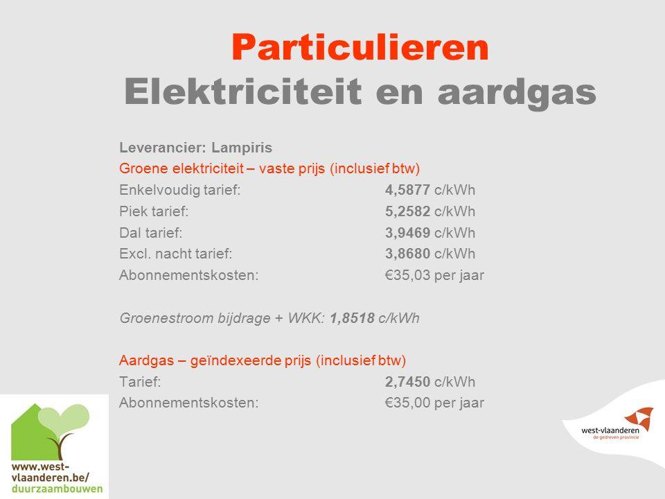 Particulieren Elektriciteit en aardgas