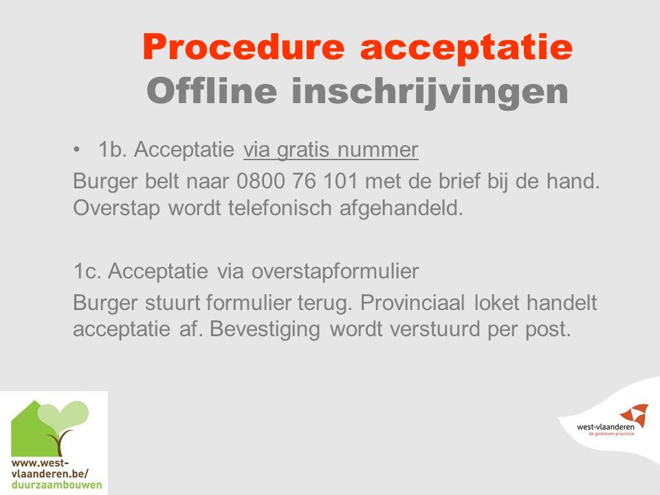 Procedure acceptatie Offline inschrijvingen