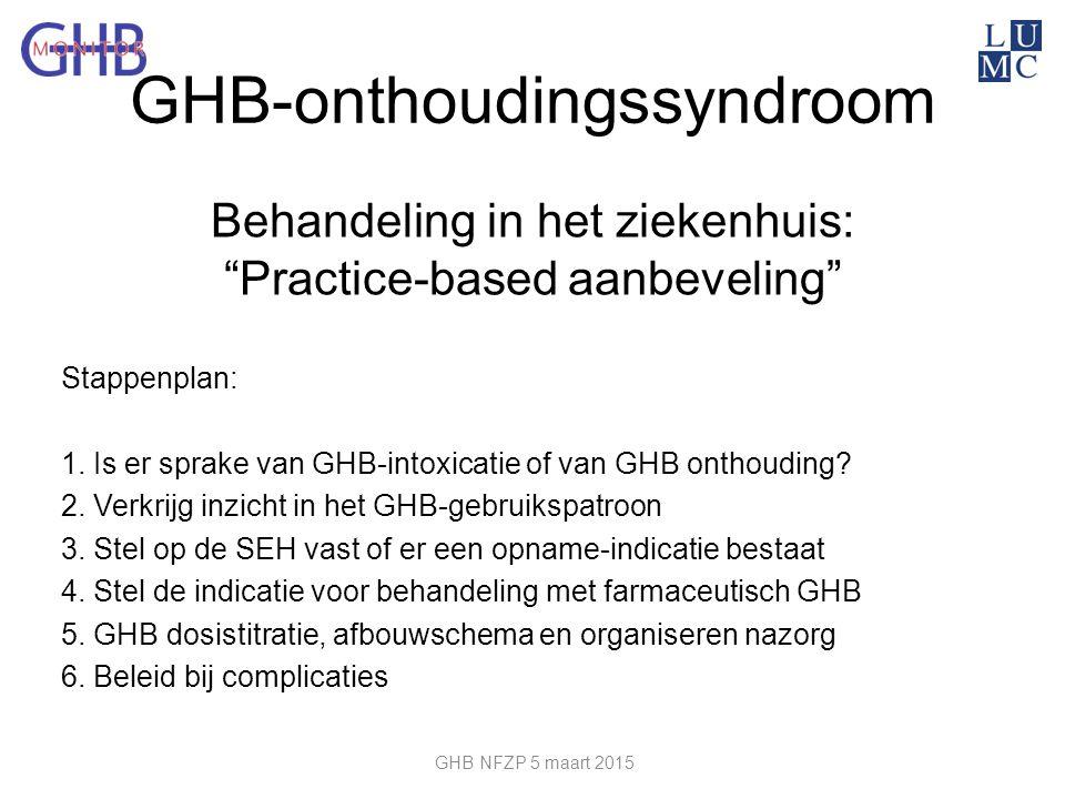 Behandeling in het ziekenhuis: Practice-based aanbeveling
