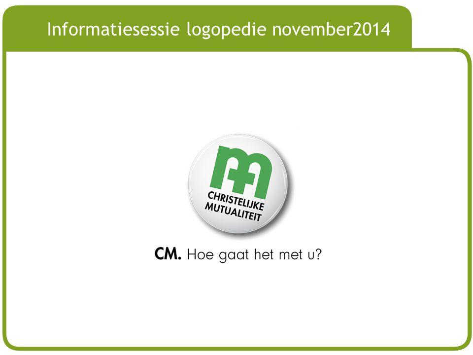 Informatiesessie logopedie november2014