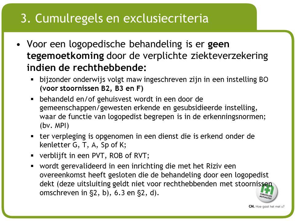 3. Cumulregels en exclusiecriteria