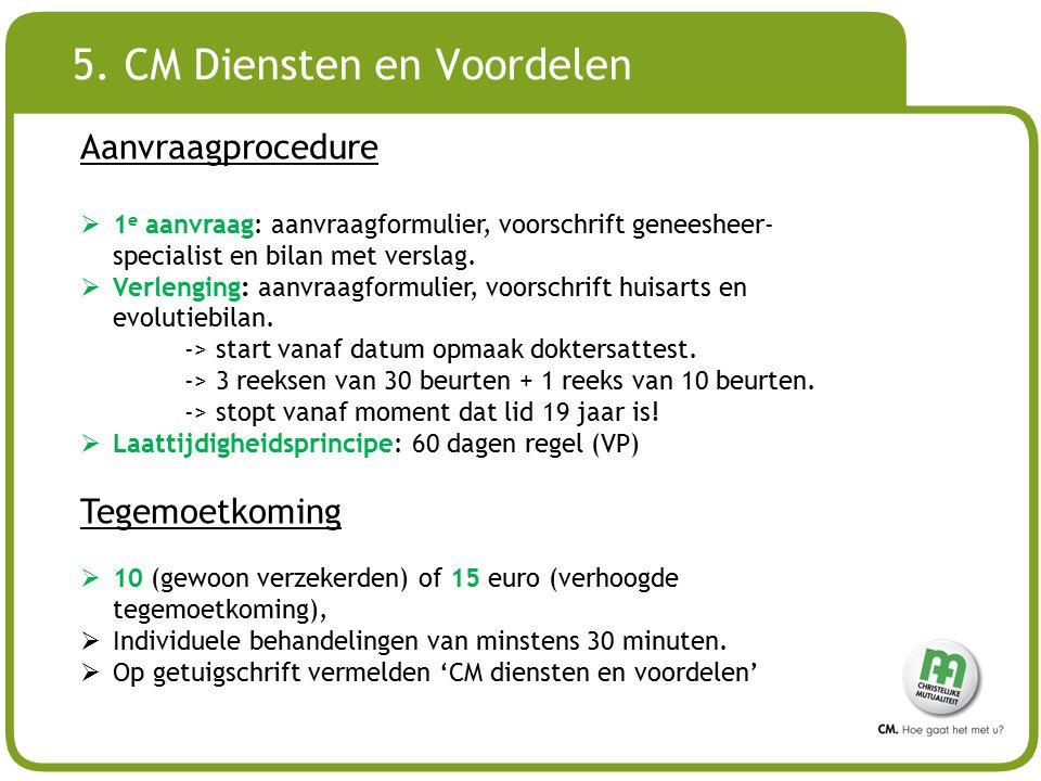5. CM Diensten en Voordelen