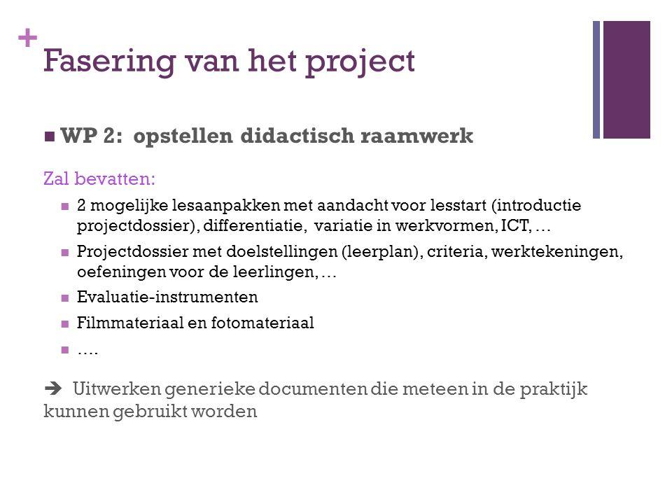Fasering van het project