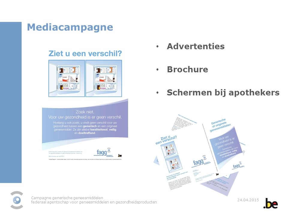 Mediacampagne Advertenties Brochure Schermen bij apothekers