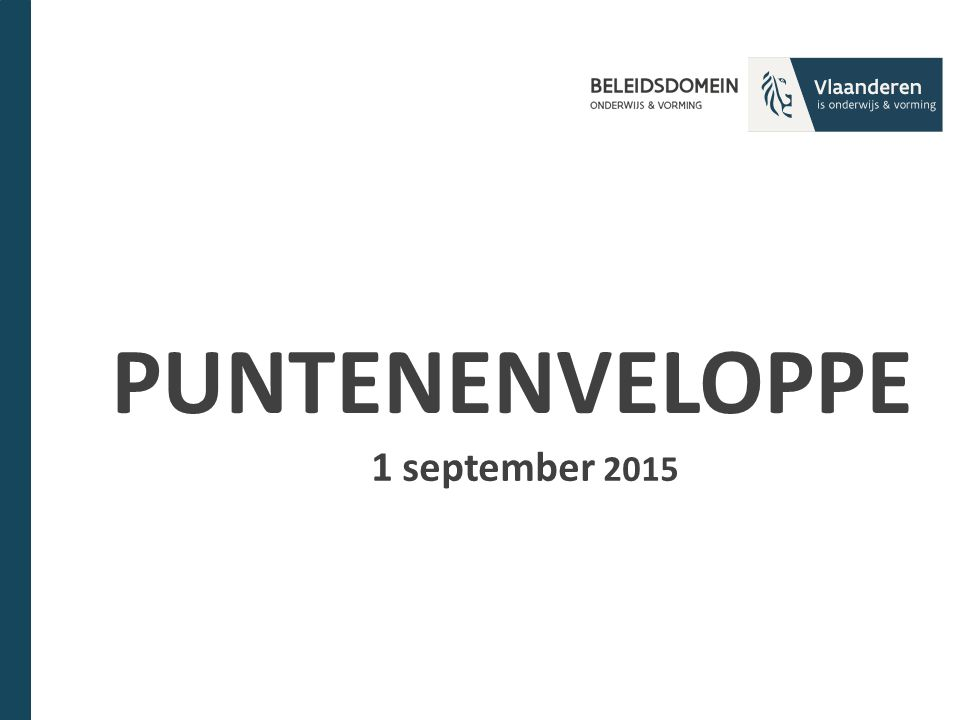 PUNTENENVELOPPE 1 september 2015