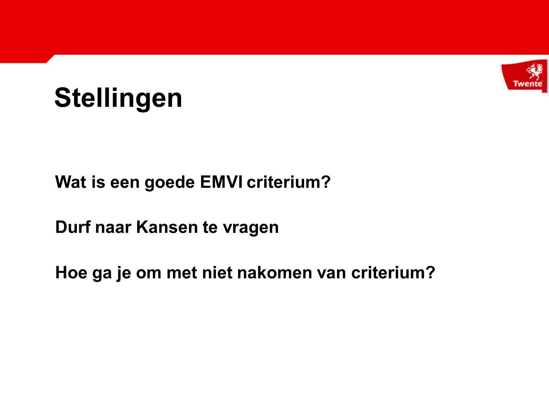 Stellingen Wat is een goede EMVI criterium Durf naar Kansen te vragen