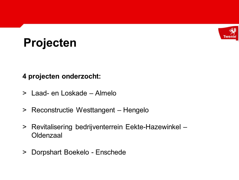 Projecten 4 projecten onderzocht: Laad- en Loskade – Almelo