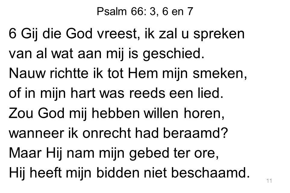 Psalm 66: 3, 6 en 7