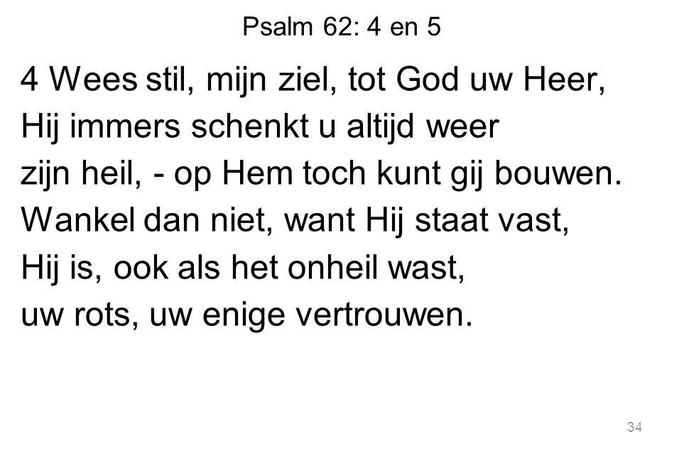 Psalm 62: 4 en 5