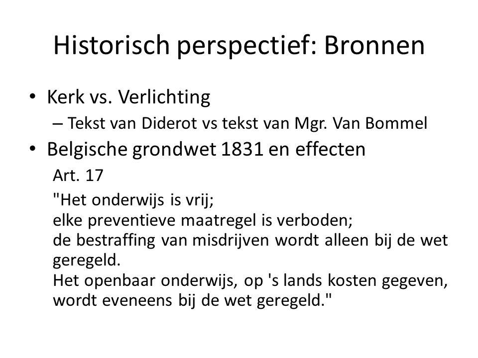 Historisch perspectief: Bronnen