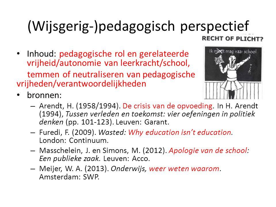 (Wijsgerig-)pedagogisch perspectief