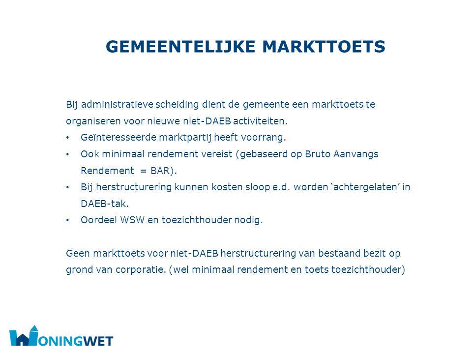 Gemeentelijke markttoets