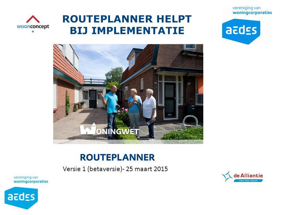 Routeplanner helpt bij implementatie