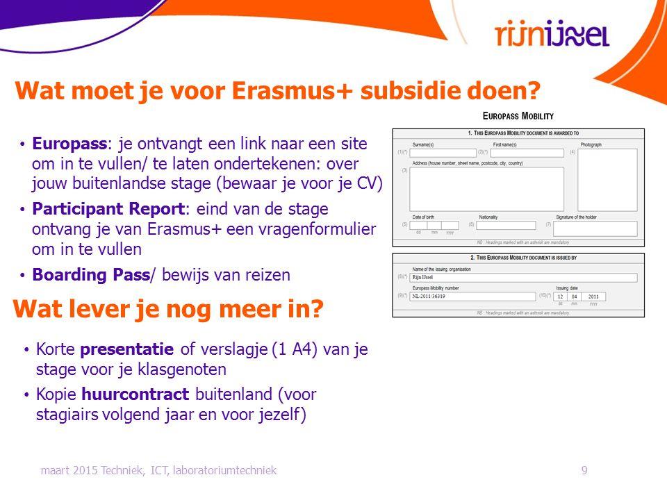 Wat moet je voor Erasmus+ subsidie doen