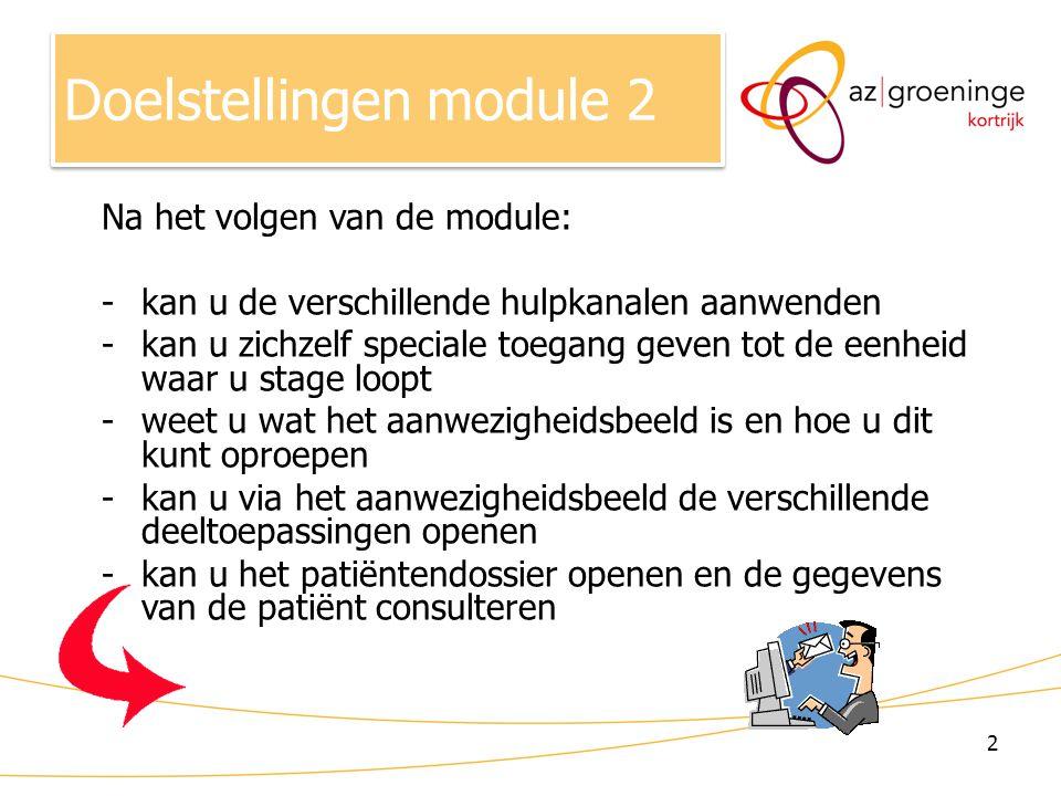 Doelstellingen module 2