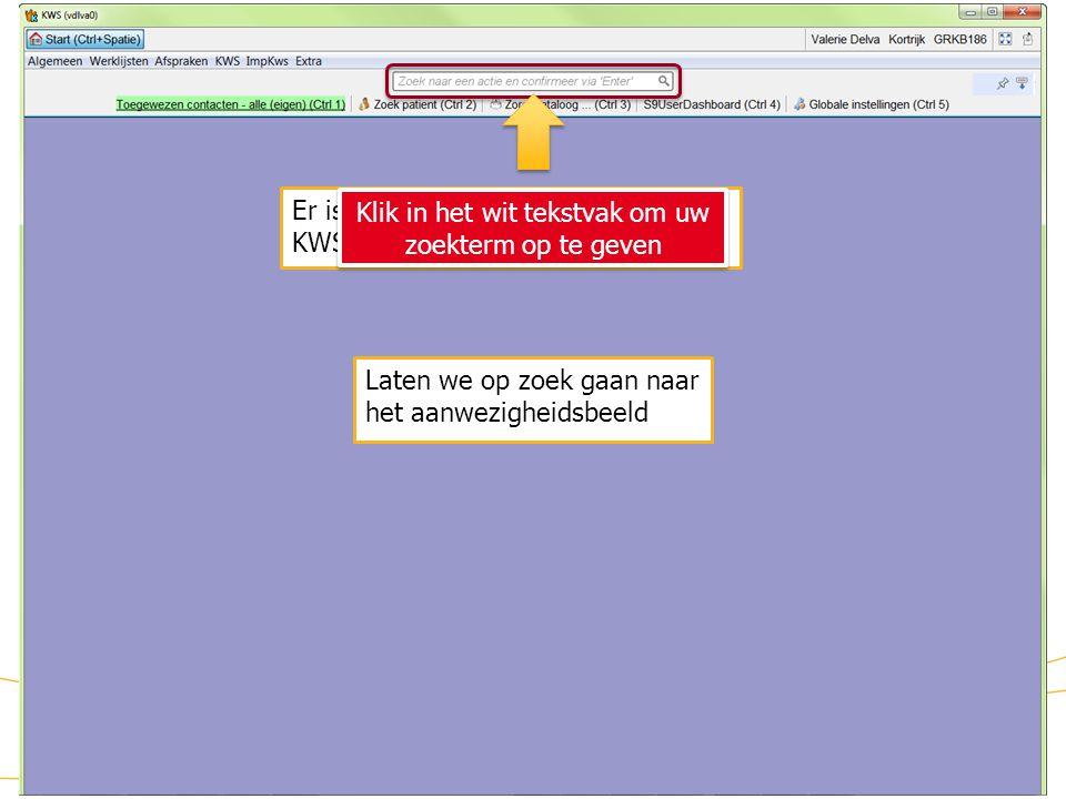 Klik in het wit tekstvak om uw zoekterm op te geven