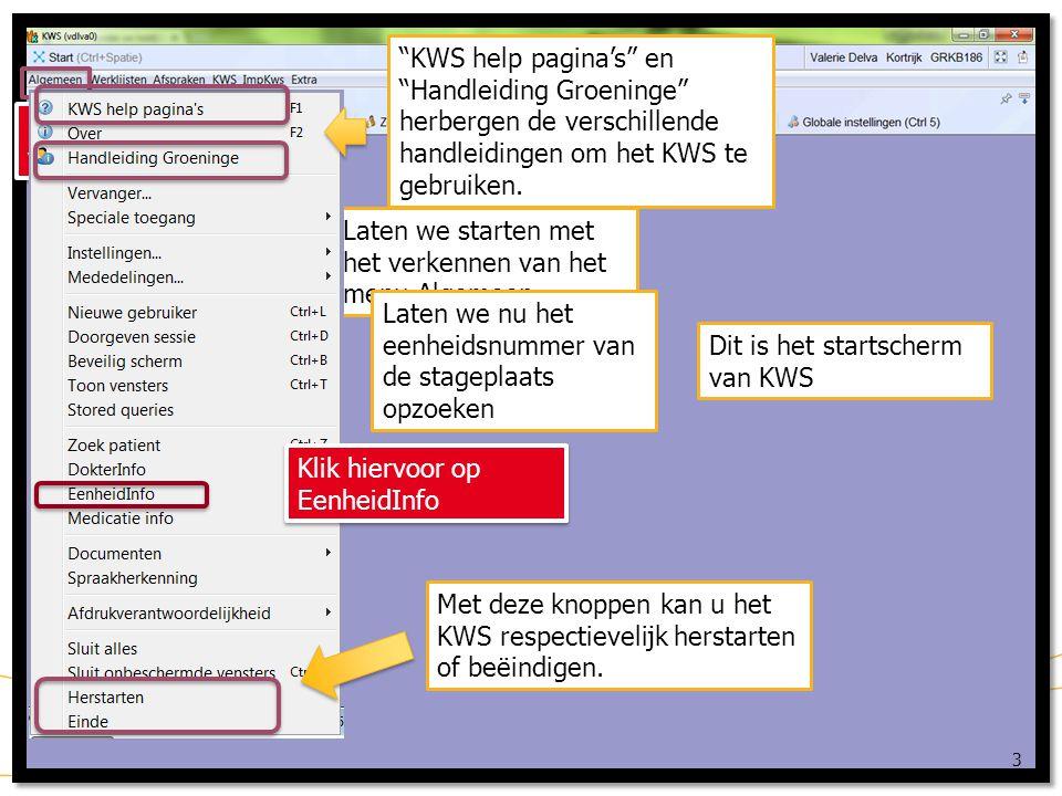 KWS help pagina's en Handleiding Groeninge herbergen de verschillende handleidingen om het KWS te gebruiken.