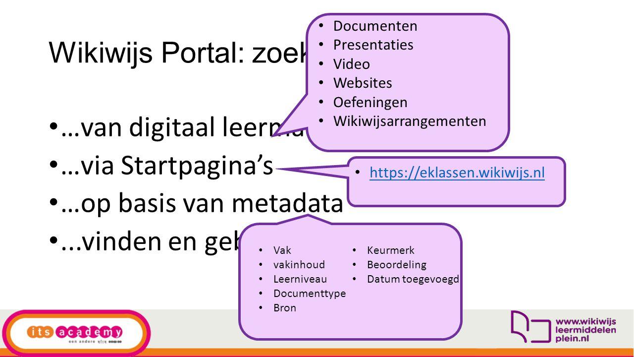 Wikiwijs Portal: zoeken…