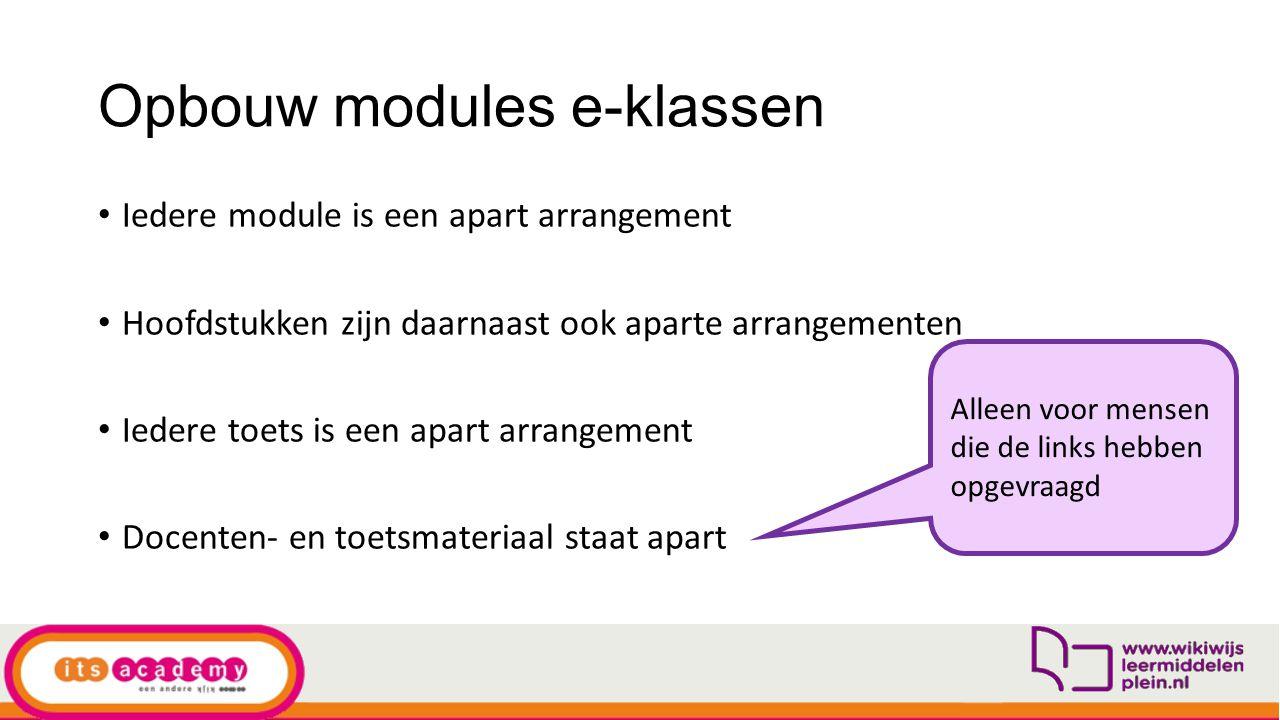 Opbouw modules e-klassen