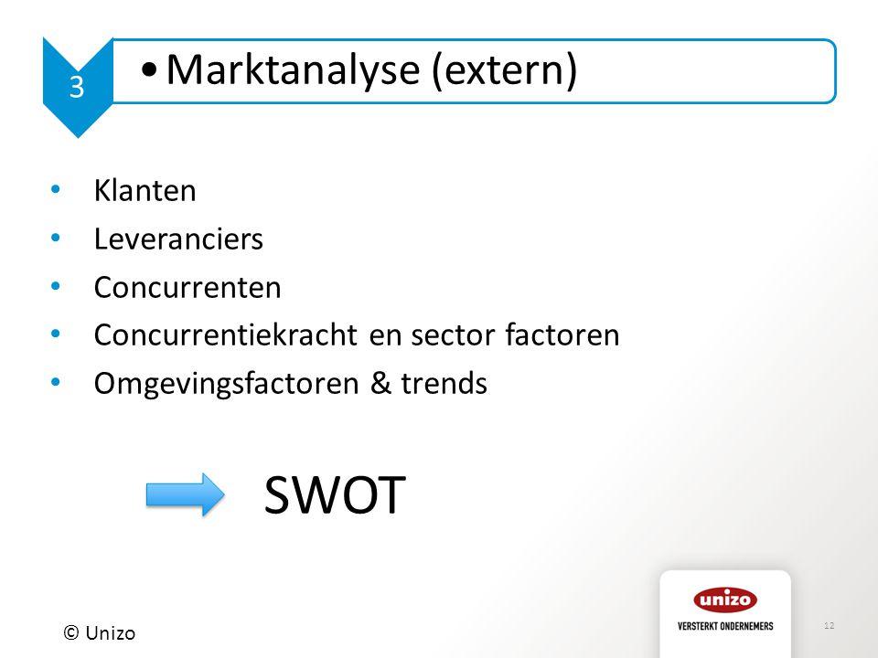 Concurrentiekracht en sector factoren Omgevingsfactoren & trends SWOT
