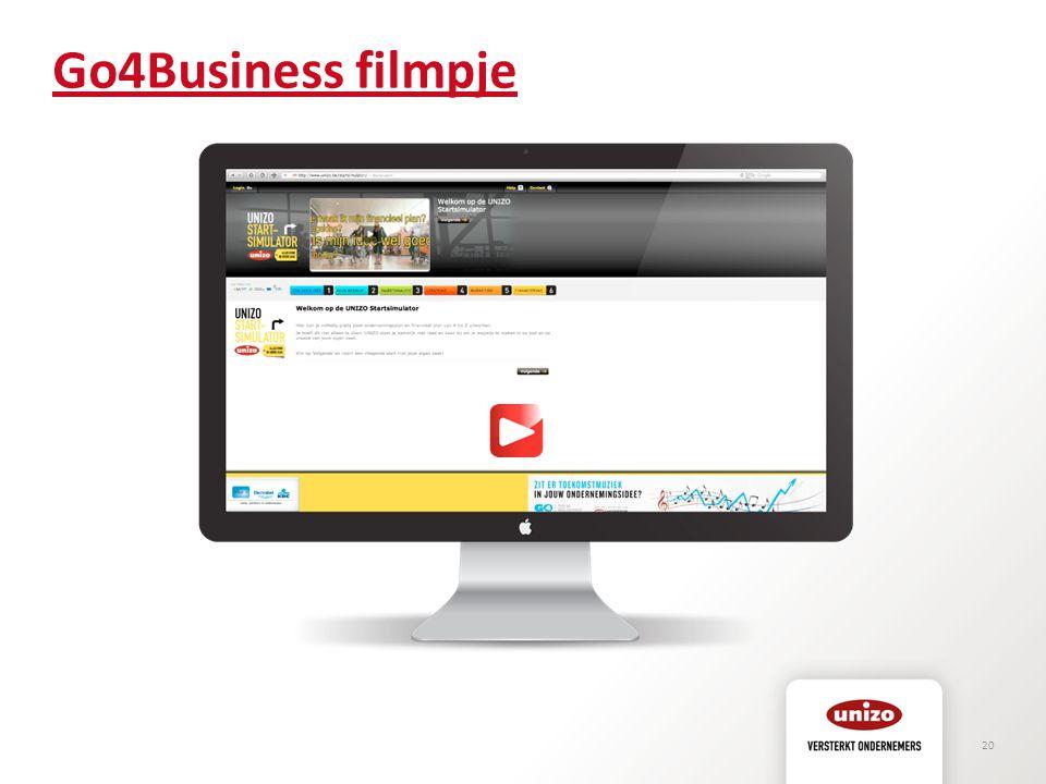 Go4Business filmpje KLIK op PLAY VOOR LINK NAAR FILMPJE OW: internetconnectie en geluid!