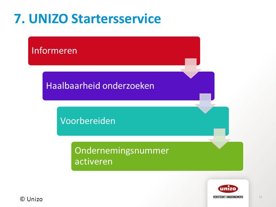 7. UNIZO Startersservice