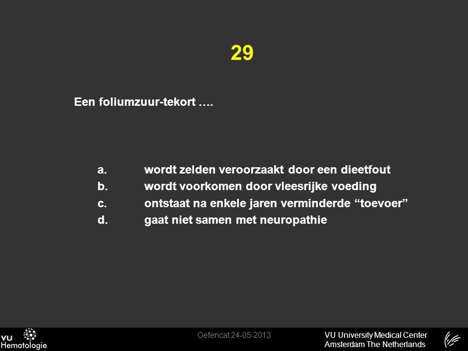 29 Een foliumzuur-tekort ….