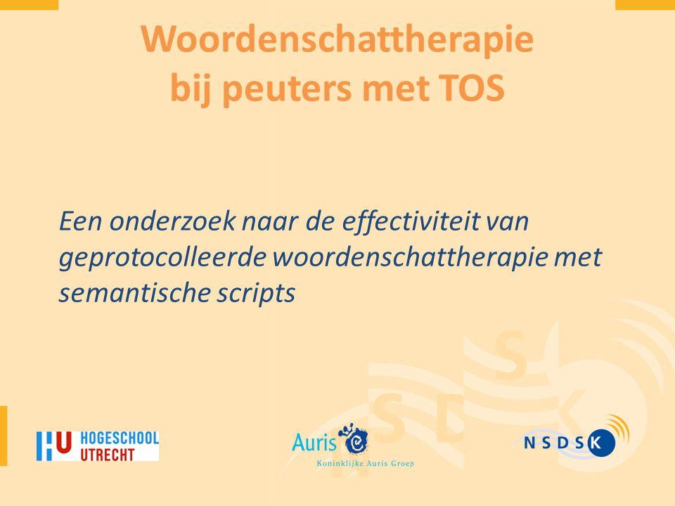 Woordenschattherapie bij peuters met TOS