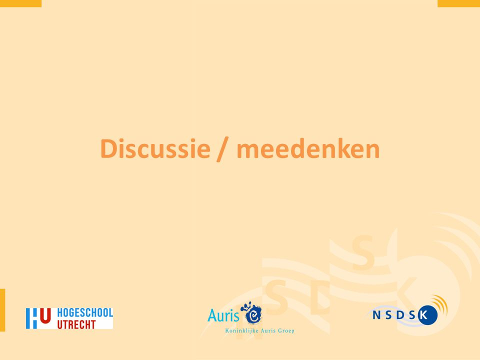 Discussie / meedenken
