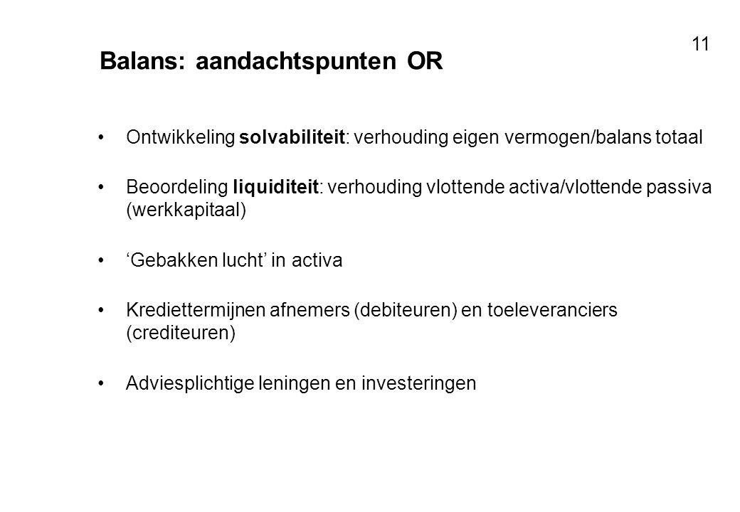 Balans: aandachtspunten OR