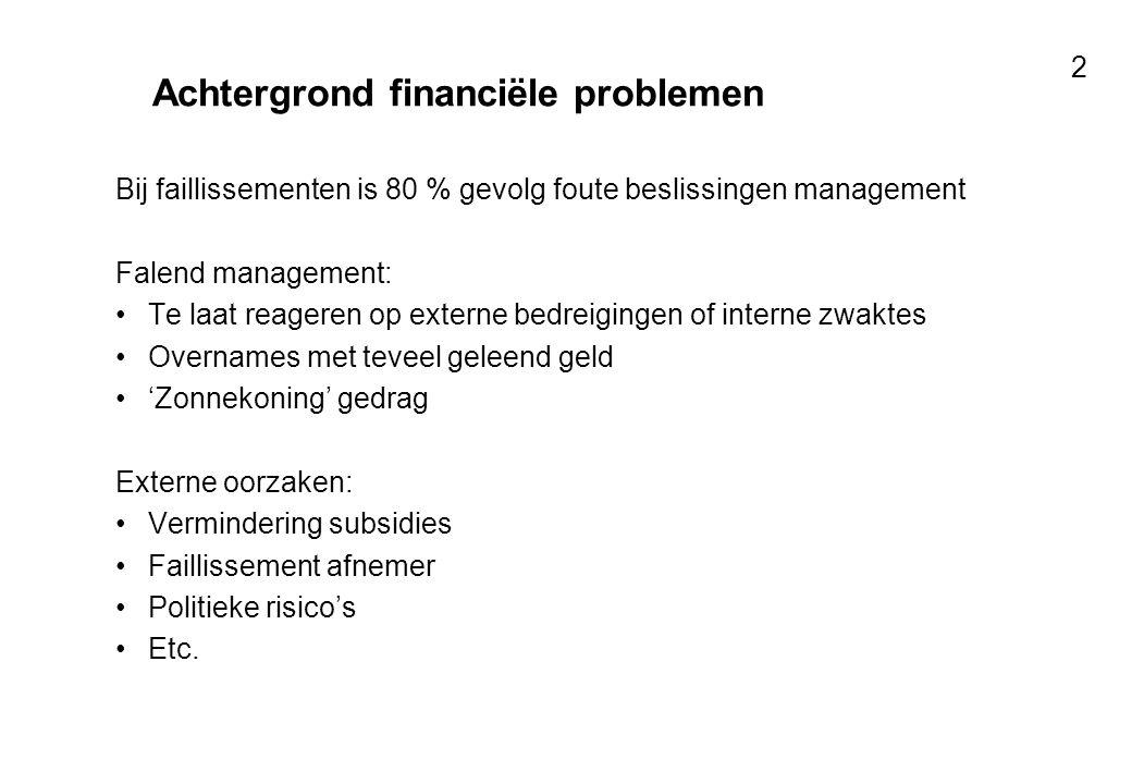 Achtergrond financiële problemen