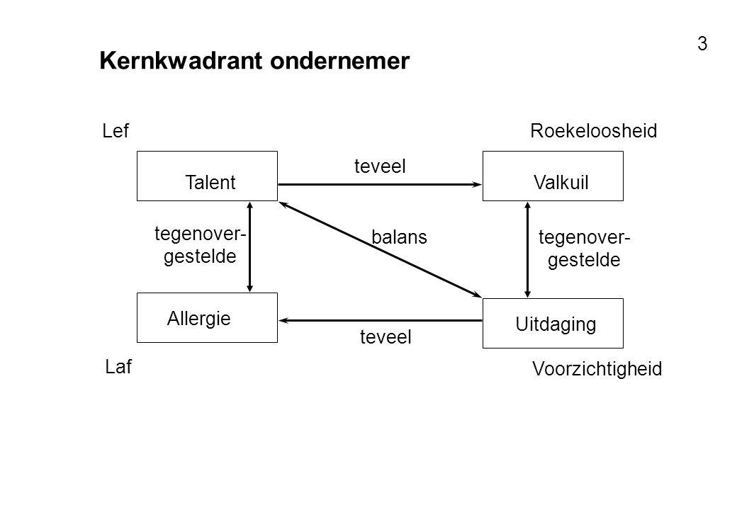 Kernkwadrant ondernemer