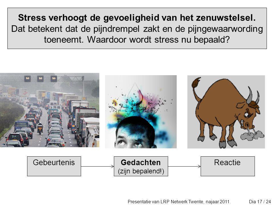 Stress verhoogt de gevoeligheid van het zenuwstelsel
