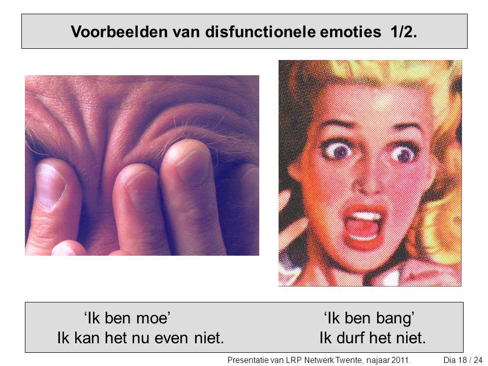 Voorbeelden van disfunctionele emoties 1/2.