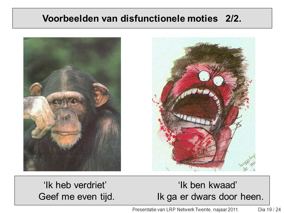 Voorbeelden van disfunctionele moties 2/2.