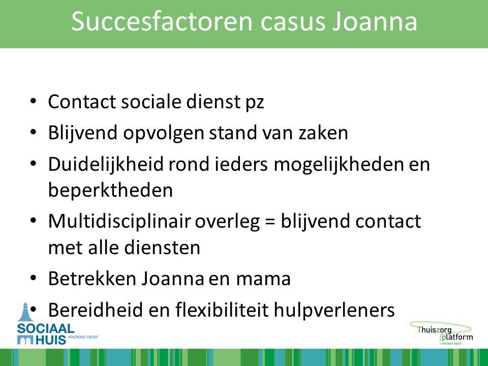 Succesfactoren casus Joanna