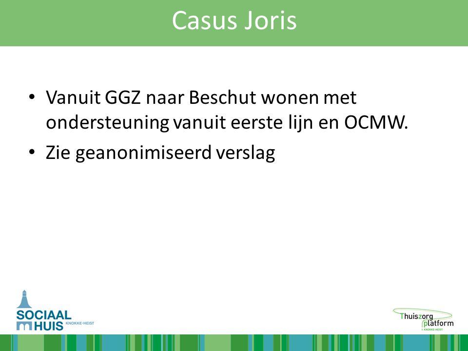 Casus Joris Vanuit GGZ naar Beschut wonen met ondersteuning vanuit eerste lijn en OCMW.