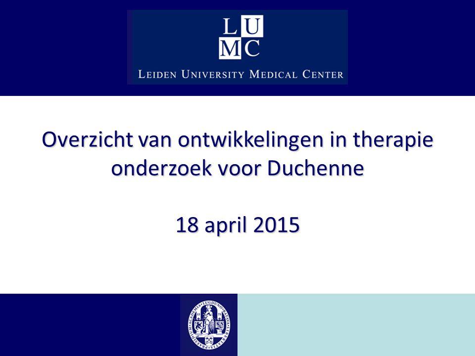 Overzicht van ontwikkelingen in therapie onderzoek voor Duchenne