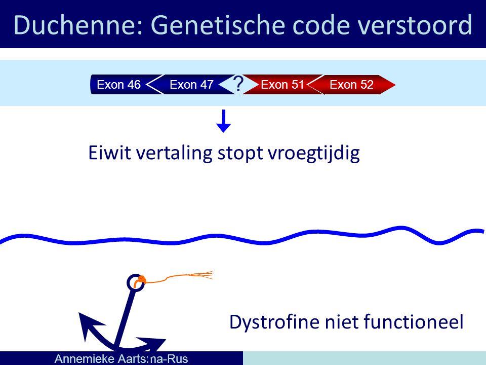 Duchenne: Genetische code verstoord