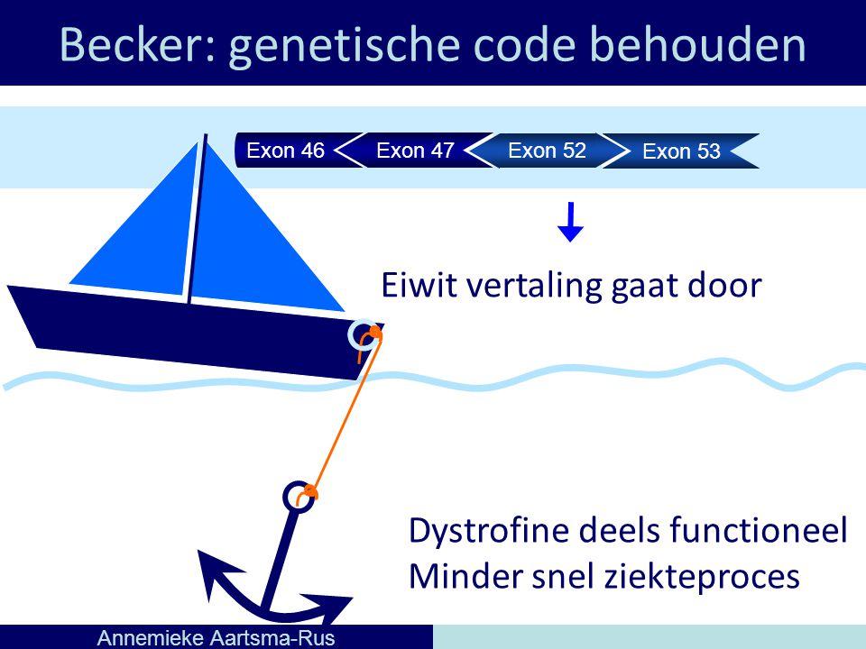 Becker: genetische code behouden