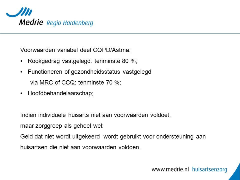 Voorwaarden variabel deel COPD/Astma: