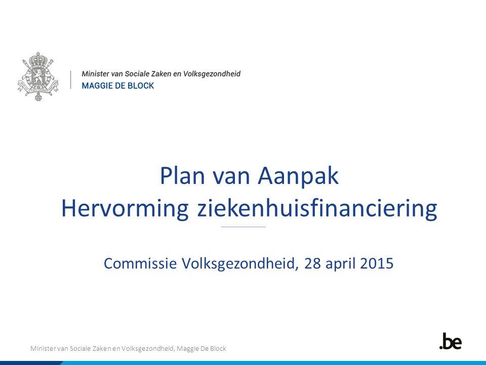 Plan van Aanpak Hervorming ziekenhuisfinanciering Commissie Volksgezondheid, 28 april 2015