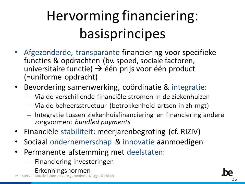 Hervorming financiering: basisprincipes